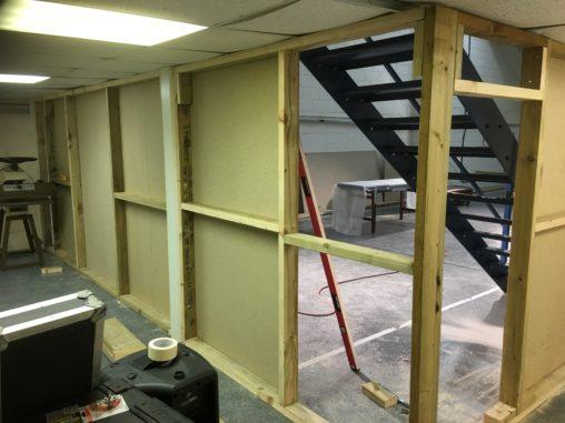 Drywalling new studio 1