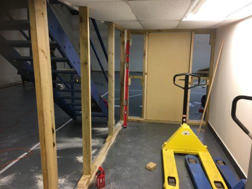 Drywalling new studio 2
