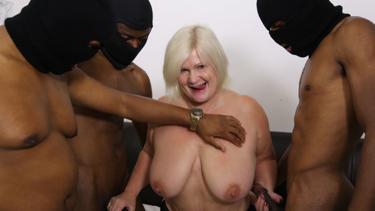 Granny Used Hard by Masked Blacks!