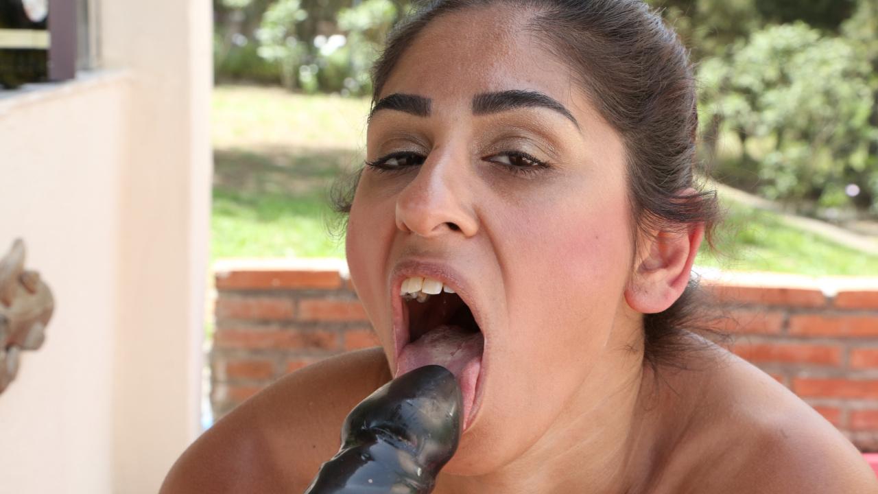 Masturbating At The Poolside Bar