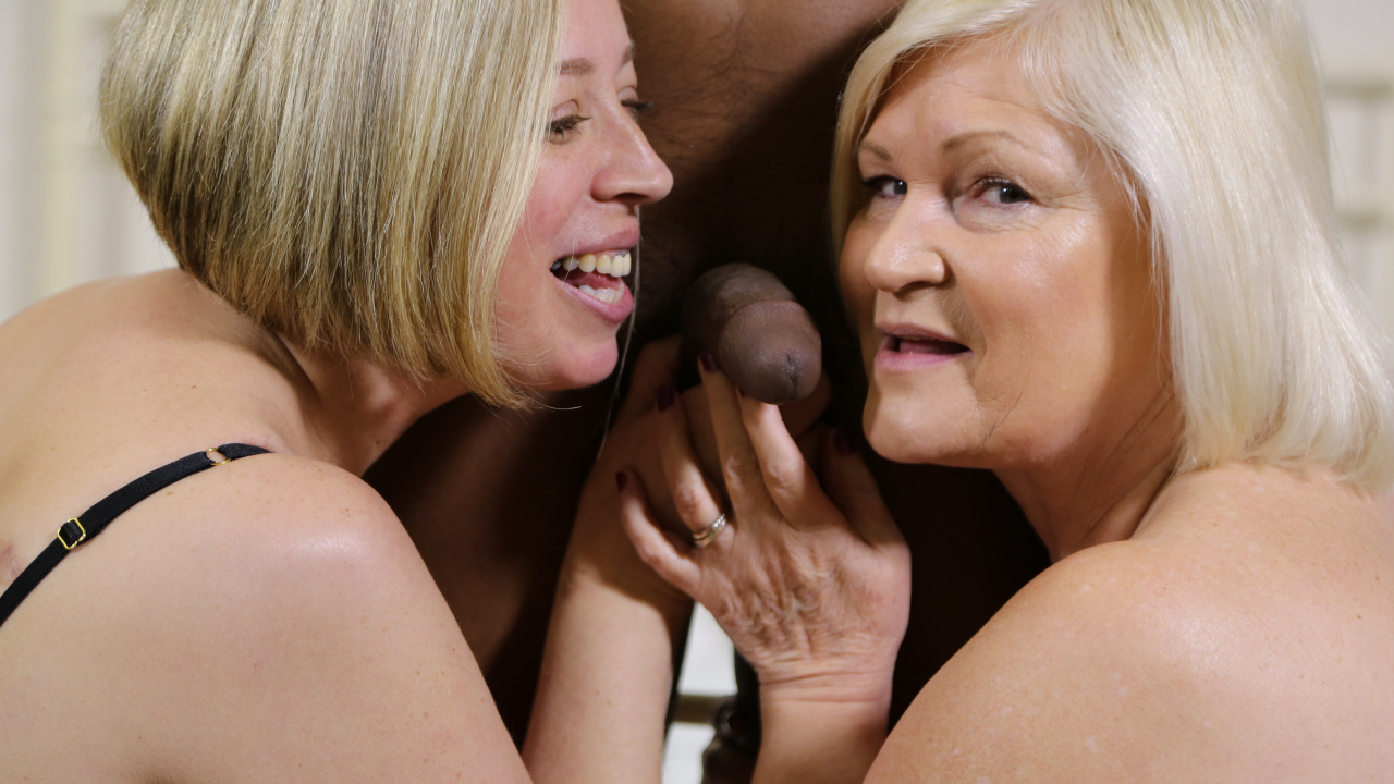 Two Matures Hot for Black
